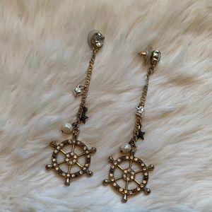 Betsy Johnson Nautical Earrings